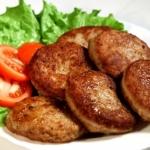 Сколько калорий в котлете из говядины? Рецепт низкокалорийных котлет