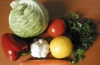 Летний легкий салат из капусты и болгарского перца