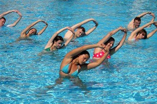 аквааэробибика: упражнения