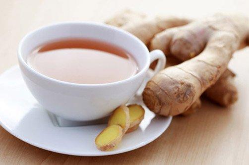 приготовление имбирного чая для похудения фото