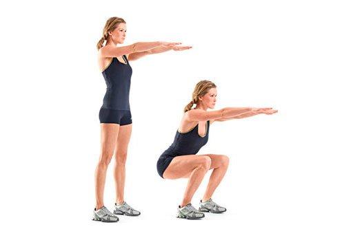приседания силовые упражнения для похудения фото