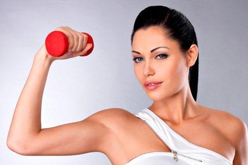 упражнения с гантелями для похудения фото