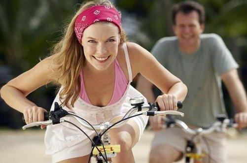 катание на велосипеде для похудения фото