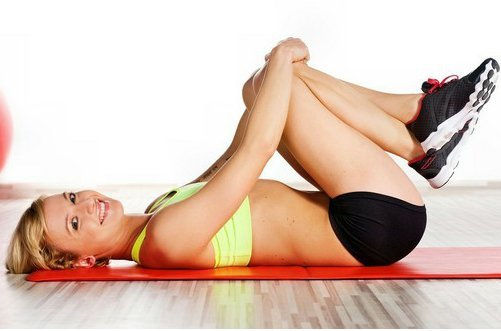 упражнение для похудения коленей фото