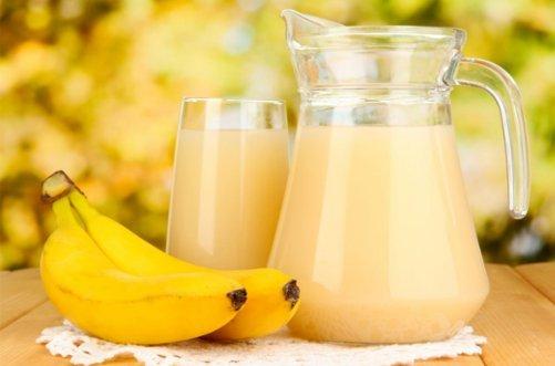 банановый смузи фото