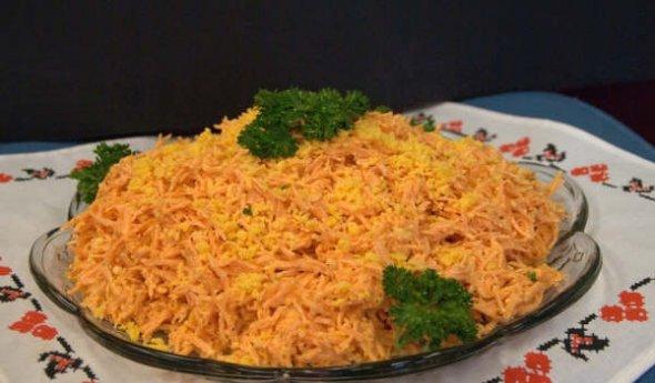Салат из колбасного сыра рецепт