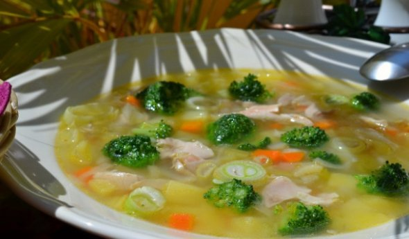 Куриный суп с брокколи рецепт с фото