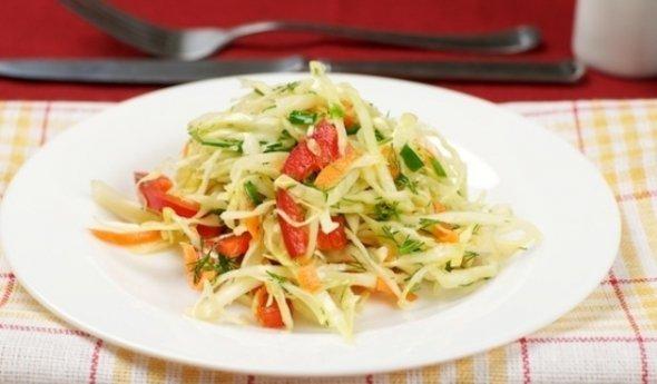 Салат капуста с перцем рецепт с